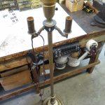 Lamp Parts and Repair | Lamp Doctor: Broken Antique Brass Floor Lamp with Cluste...