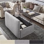Landen Lift Top Upholstered Storage Ottoman Coffee Table by iNSPIRE Q Artisan - https://pickndecor.com/interior