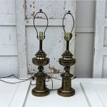 Large Brass Stiffel Lamps, Pair Vintage Chic Found By Foo Foo La La