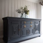 Large antique sideboard painted ash by fusion mineral paint