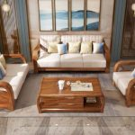 Latest Fabric Sofa Set Living Room Furniture Pictures of Wooden Sofa Designs