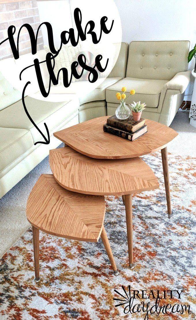Leaf-Shaped Modern Nesting Tables {Reality Daydream}