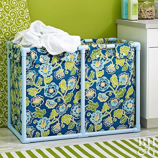Learn How to Make this Pretty DIY Laundry Hamper