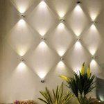 Light Wall Decor -- multiple lights arranged on wall makes decor  statement ...