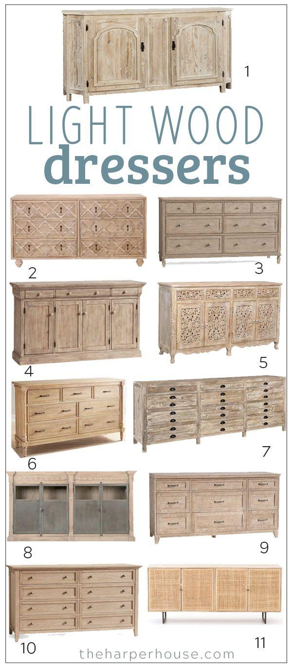 Light Wood Dresser Roundup 2018   The Harper House