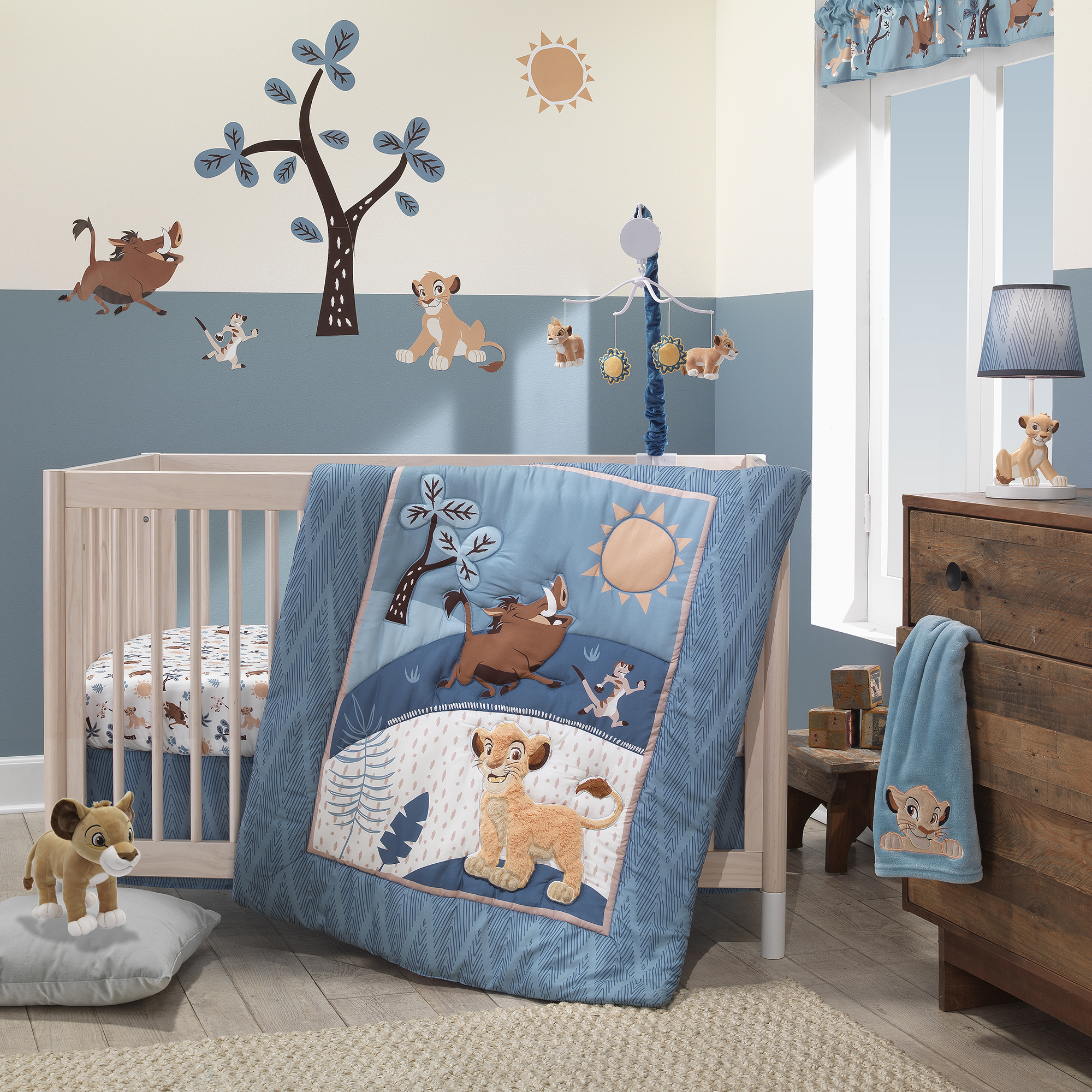 Lion King Adventure 4-Piece Crib Bumper