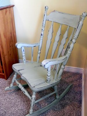 Little Bit of Paint: My Mother's Rocking Chair with homemade chalk paint, distre…