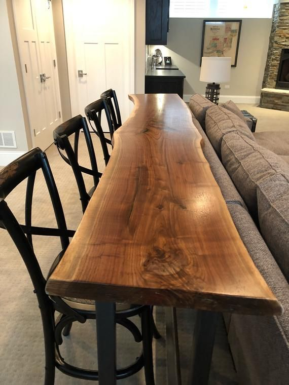 Live Edge Sofa Table – Home Bar Table