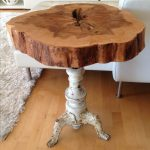 Live Edge Table with hairpin legs, Live Edge Coffee table with metal legs, Rusti...