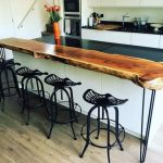 Live Edge Wood Breakfast Bar