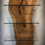 Live Edge Wood With Glass Shelves | Wood Monkey Studio