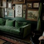 Living Room Dark Green Walls Velvet Sofa 27 Ideas