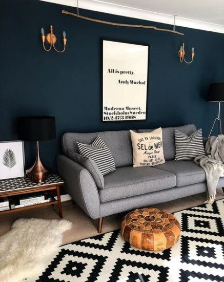 Living Room Dark Walls Small Spaces 39+ Super Ideas