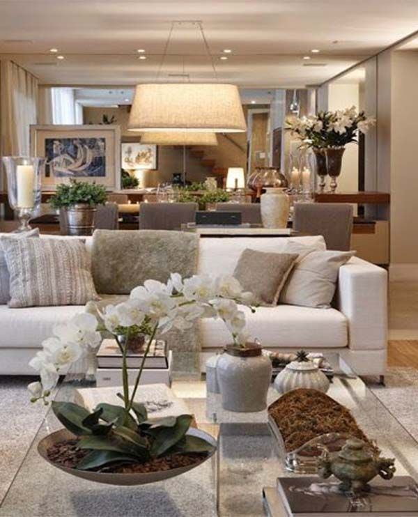 Living Room Decorating with Unique Furniture Pieces? #livingroom #decor #livingroomsofa #leathersofa #tvset #stylishlivingroom