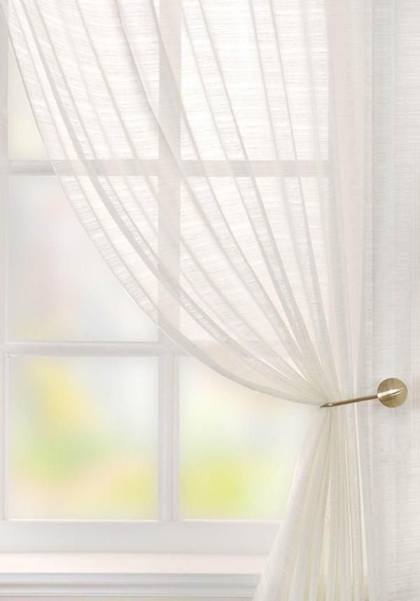 Lucerne Voile Curtain Panel White | UK Delivery