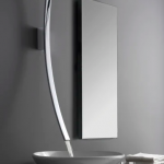 Luna Wall Mounted Lavatory / Vessel Filler with Deck Mounted Handles (Rough and Trim)