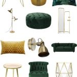 Luxe Green and Gold Living Room - Furnishful's Living Room Ideas - Inspiration Boards | Furnishful