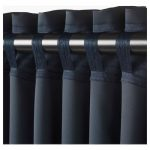 MAJGULL Blackout curtains, 1 pair - dark blue - IKEA