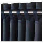 MAJGULL Blackout curtains, 1 pair - dark blue - IKEA
