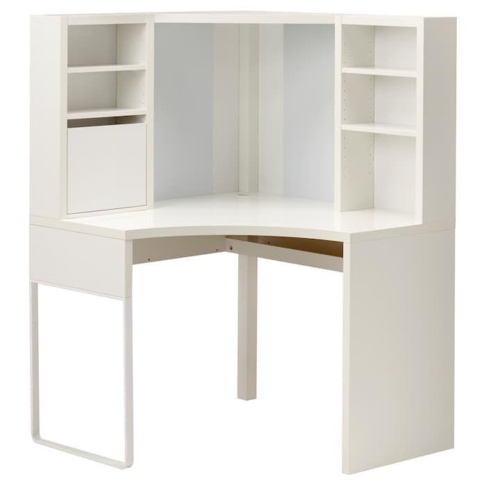 MICKE Corner workstation – white – IKEA