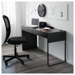 MICKE Desk - black-brown - IKEA
