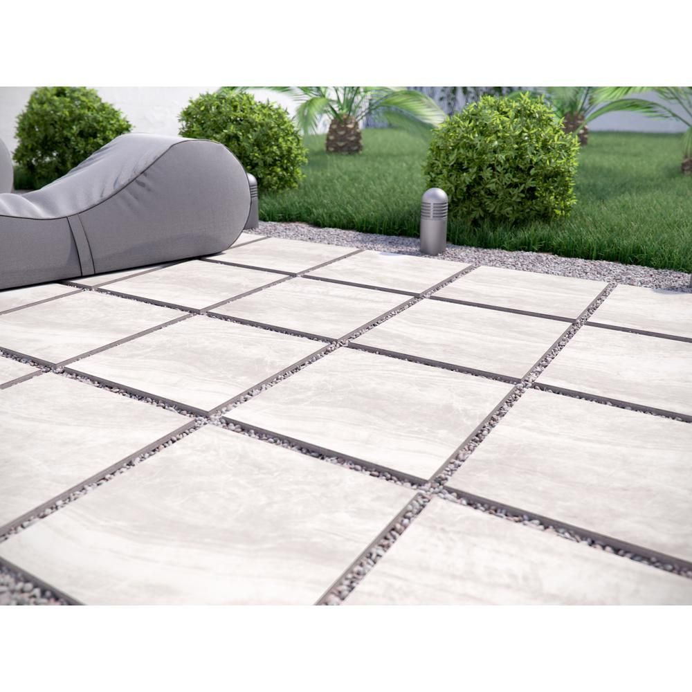 MSI Praia Grey 24 in. x 24 in. Porcelain Paver Tile (14 pieces / 56 sq. ft. / pallet)-PAVNPRAGRE2424 – The Home Depot