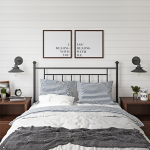 Mainstays Tempo Full/Queen Metal Headboard, Black - Walmart.com