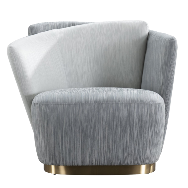 Maja Occasional Chair – Grey with Gold Base