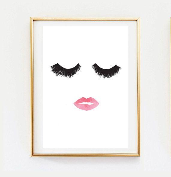 Makeup Print, Wall Decor, Home Decor, Wall Art, Minimalist Poster, Fashion Print, Glamour, Beauty Print, Makeup Poster, Wall Art Print.