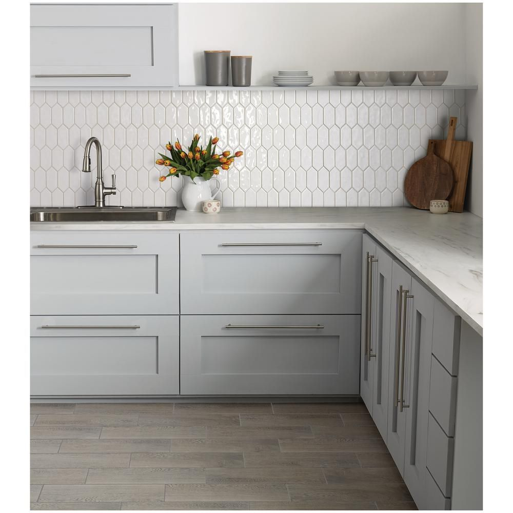Marazzi LuxeCraft White Picket 11 in. x 12 in. x 6.35mm Glazed Ceramic Mosaic Tile (0.73 sq. ft. / piece)-LC1525PICKHD1P2 – The Home Depot
