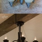 Master Makeover: A DIY Chandelier Transformation