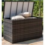 Maze Rattan Garden Furniture Brown Large Storage Box