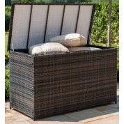 Maze Rattan Garden Furniture Brown Large Storage Box