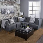 Medium Milton Gray Sectional Sofa Set