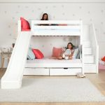 Medium Twin over Full Bunk Bed with Stairs + Slide