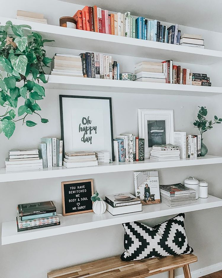 """Meredith Rhinas on Instagram: """"This is one area of the house I refuse to MarieKondo. #booklover . . . #myhomevibe #specialspaces #livesimply #bookshelf #fortheloveofbooks…"""""""