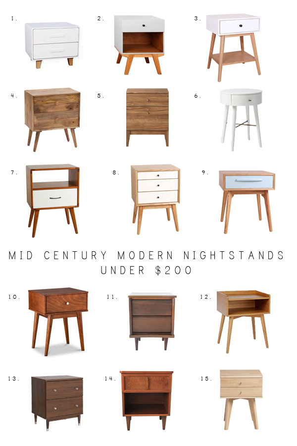 Mid Century Modern Nightstands Under $200 | brepurposed