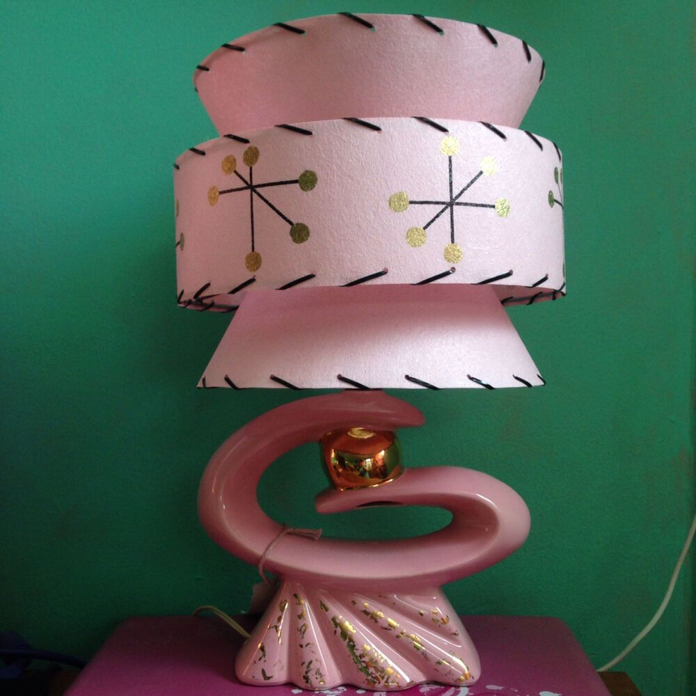 Mid Century Vintage Style Tapered 3 Tier Fiberglass Lamp Shade Modern Small     eBay