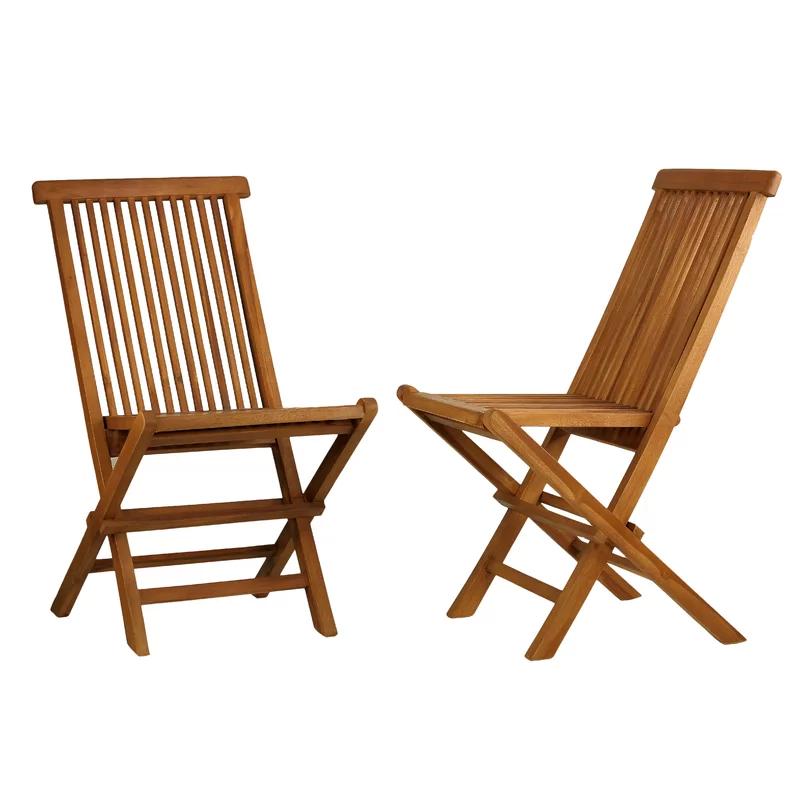 Millbrook Folding Teak Patio Dining Chair