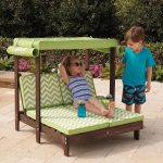 Mini Kids Outdoor patio furniture - Tiny kids pool furniture - Kids canopy doubl...
