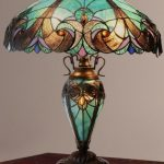 Mission Stained Glass Table Lamp Tiffany Style Shade Double Lit  | eBay