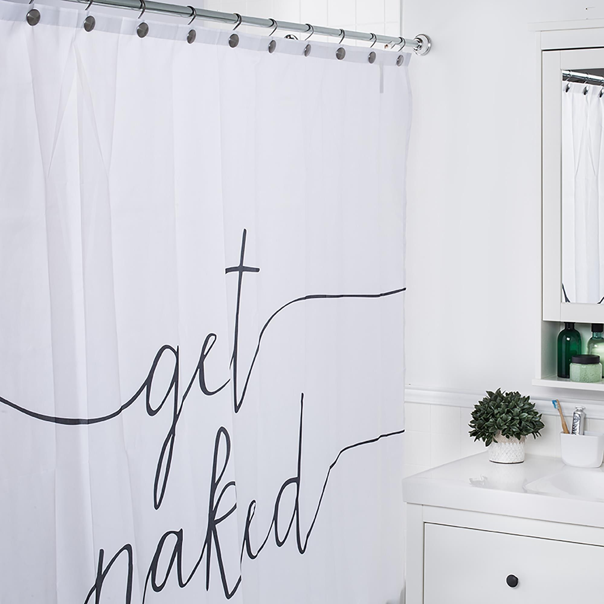Moda At Home Polyester 'Get Naked' Shower Curtain – pickndecor.com/furniture