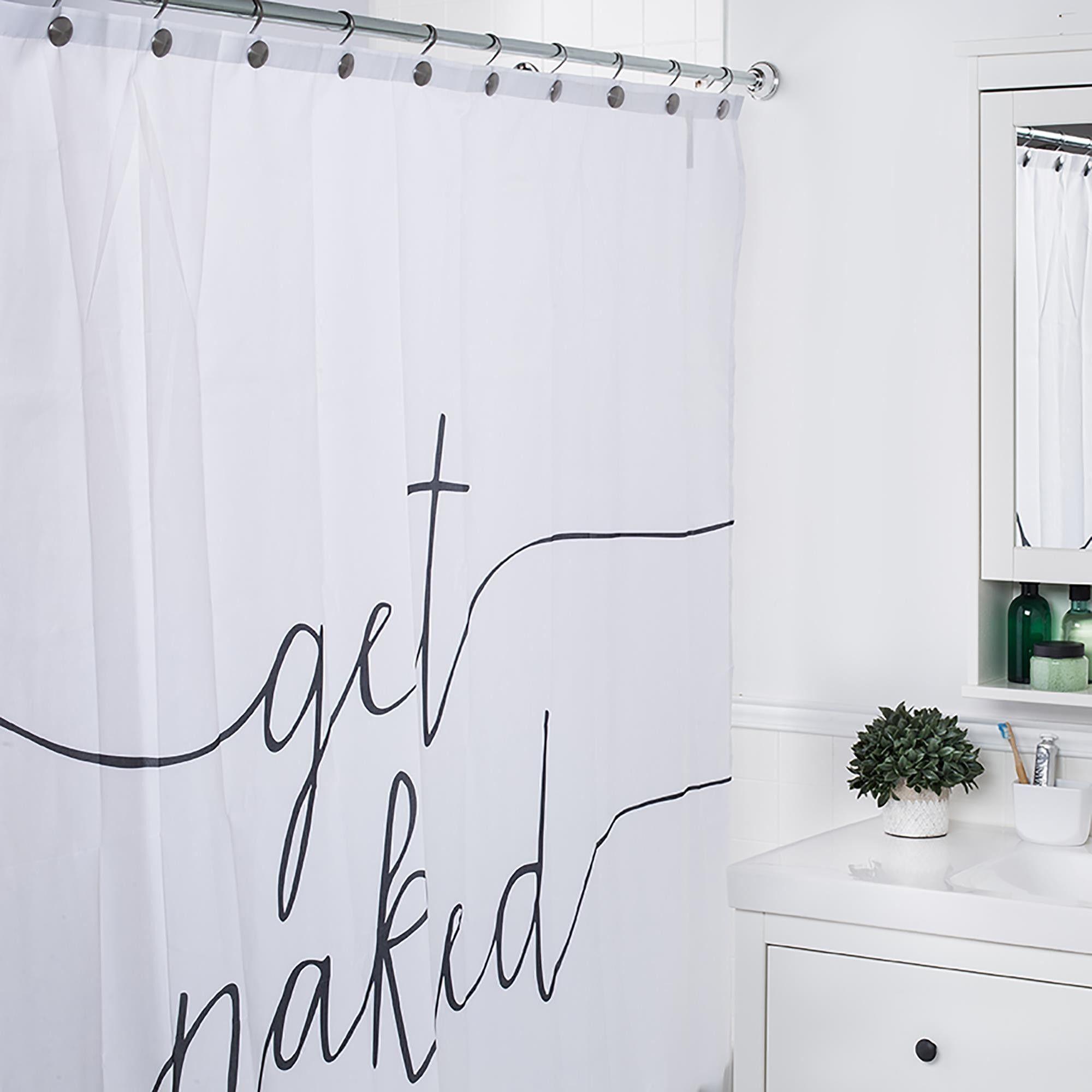 Moda At Home Polyester 'Get Naked' Shower Curtain – pickndecor.com/furniture