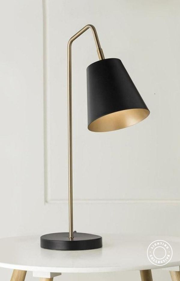 Modern Black & Brass Table Lamp