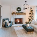 Modern Farmhouse Christmas Living Room with Navy + Copper + Rose Gold - 1111 Light Lane