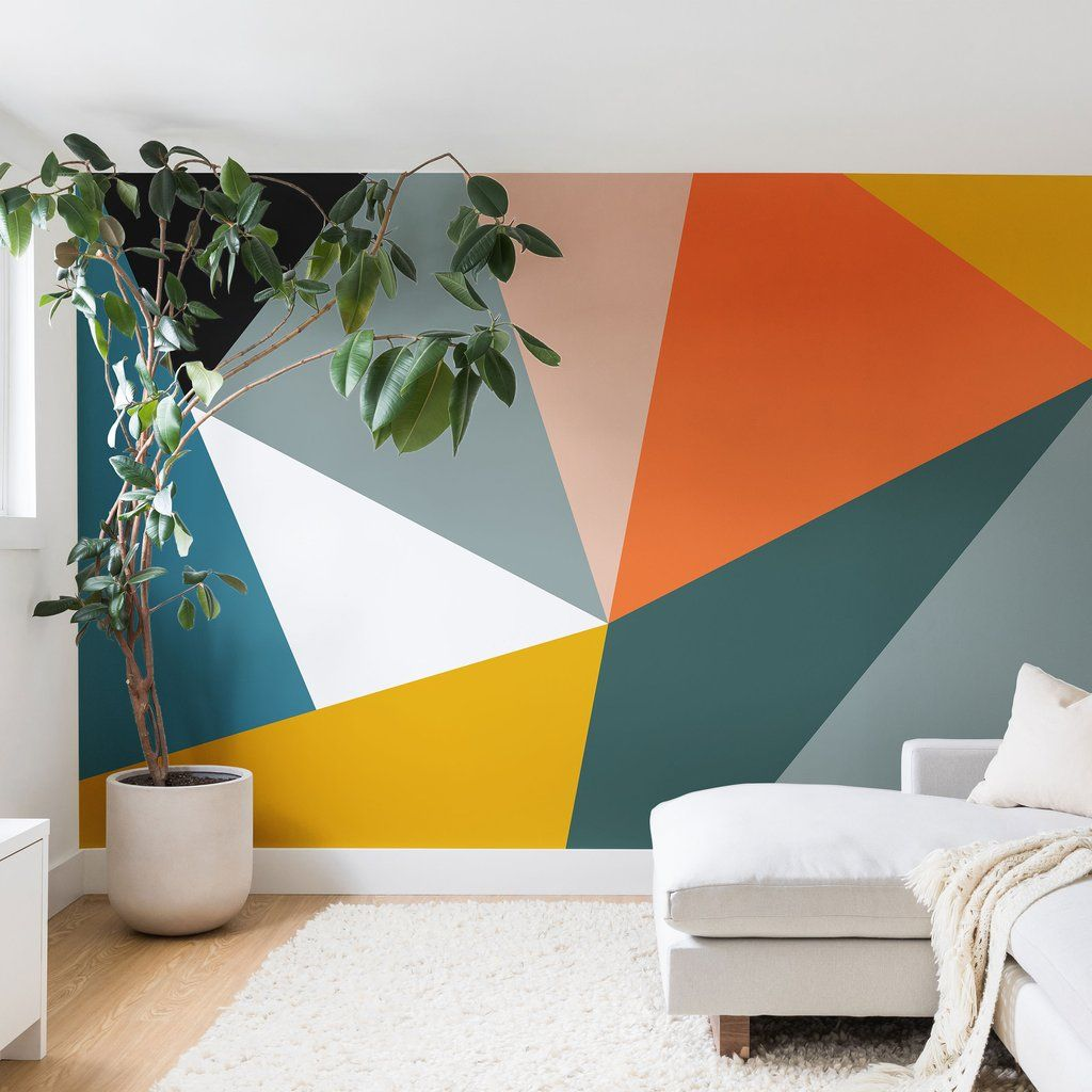Modern Geometric 33 Wall Mural The Old Art Studio