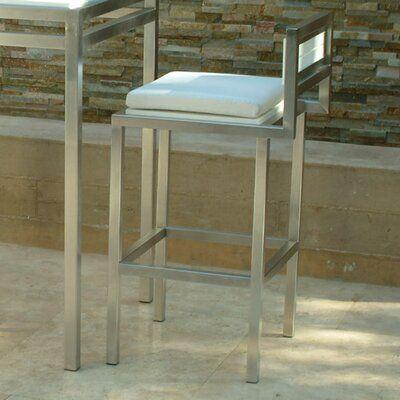 Modern Outdoor Talt 30″ Patio Bar Stool With Cushion | Wayfair
