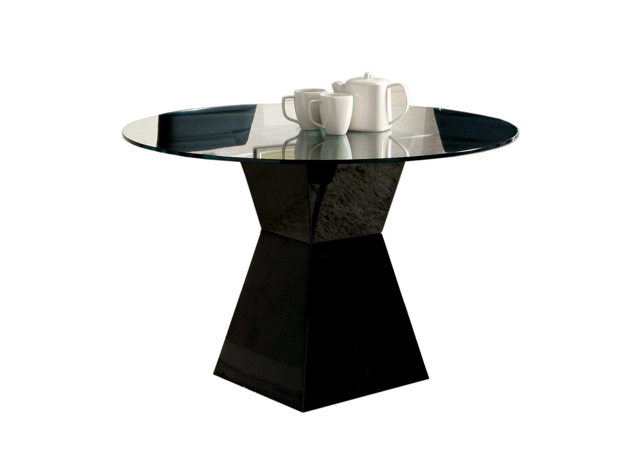 Modern Round Glass Dining Table – Mauna