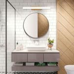 Modern Style Wooden Linear LED Vanity Light Bath Light