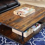 Modern Wood Coffee Table, Rustic Coffee Table, Farmhouse, Wood Furniture, Industrial Pipe Legs, Rustic, Modern, Wood Table - FREE Ship